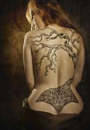 Tree of Life tattoo across the entire back