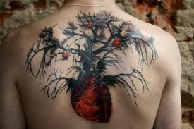 tree of life tattoo on back colorful stunning