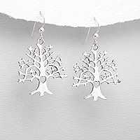 Stunning Tree Of Life Earrings | Open Design Tree with Hearts