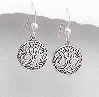 Tree Of Life Earrings Celtic Design | Sterling Silver | 12mm